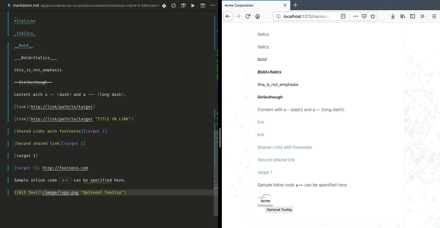 using markup languages with hugo  manning